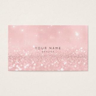 Het roze nam Poeder schittert Vip van de Stilist Visitekaartjes