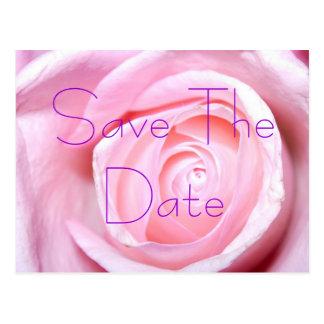 Het roze nam, sparen het Briefkaart van de Datum