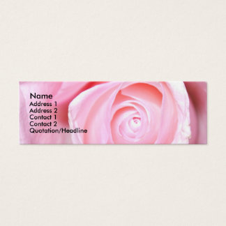 Het roze nam toe, mini visitekaartjes