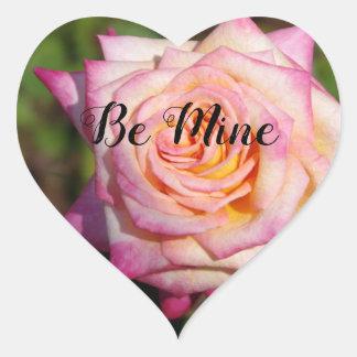 Het roze nam Valentijn toe Hart Sticker