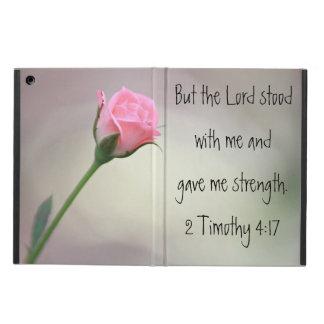 Het roze nam vers 2 van de Bijbel het hoesje van d iPad Air Hoesje
