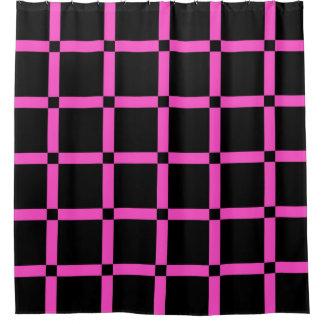Het Roze Net Patern van de zwarte & van het Neon Gordijn 0