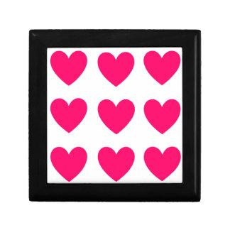 Het roze Ontwerp van het Hart Decoratiedoosje