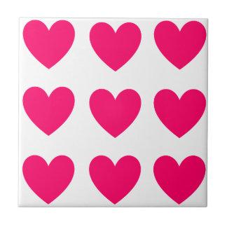 Het roze Ontwerp van het Hart Keramisch Tegeltje