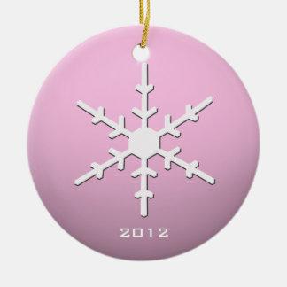 Het roze Ornament van de Sneeuwvlok