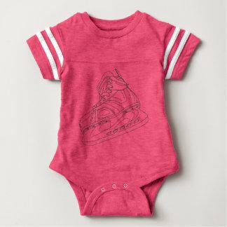 Het roze Overhemd van het Baby van het Schaats van Baby Bodysuit