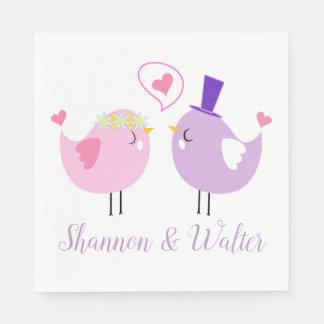Het roze & Paarse Huwelijk van Dwergpapegaaien, Wegwerp Servetten