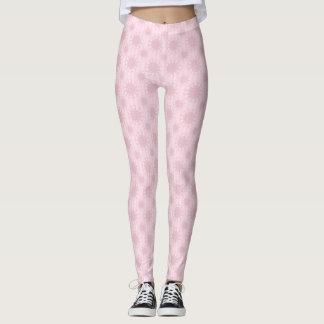 Het roze Patroon van Bloemen Leggings