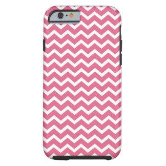 Het roze Patroon van Chevrons Tough iPhone 6 Hoesje