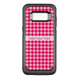 Het roze Patroon van de Diamant van de Combinatie OtterBox Commuter Samsung Galaxy S8 Hoesje