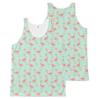 Het roze Patroon van de Flamingo All-Over-Print Tank Top