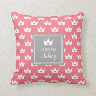 Het roze Patroon van de Kroon van de Prinses - de Sierkussen