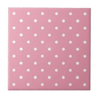Het roze Patroon van de Stip Keramisch Tegeltje