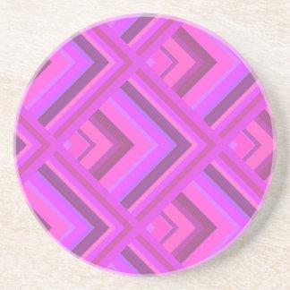 Het roze patroon van de strepenschaal zandsteen onderzetter