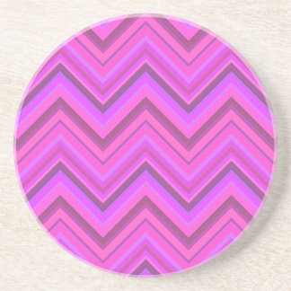 Het roze patroon van de strepenzigzag zandsteen onderzetter