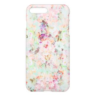 Het roze patroon van waterverf vintage bloemen iPhone 7 plus hoesje