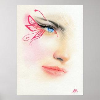 Het roze POSTER van de Kunst van de Fantasie van h
