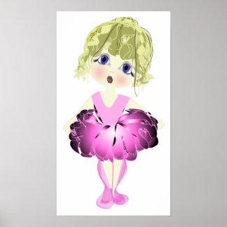 Het roze Poster van de Kunst van de Schoenen van h