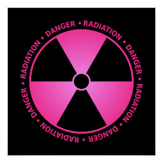Het roze Poster van de Waarschuwing van de Stralin