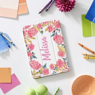 Het roze Romantische BloemenHoesje van het Lijst iPad Pro Cover