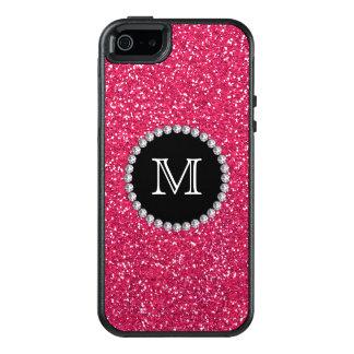 Het roze schittert, Diamant, Girly, Met monogram OtterBox iPhone 5/5s/SE Hoesje