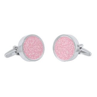 Het roze schittert en het Witte Patroon van Vonken Verzilverde Manchetknopen