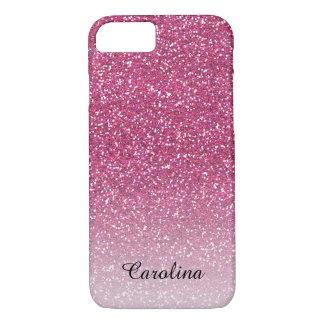 Het roze schittert, Gepersonaliseerde Mobiel iPhone 8/7 Hoesje