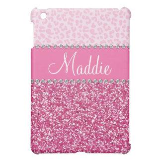 Het roze schittert het Geval van de Luipaard BLING iPad Mini Cases