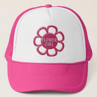 Het roze schittert het Meisje van de Bloem Trucker Pet