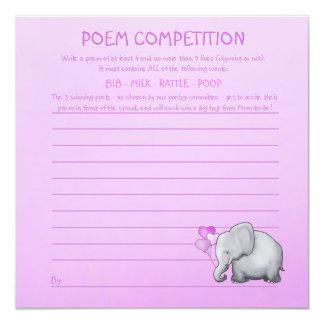 Het roze Spel van de Concurrentie van het Gedicht Kaart