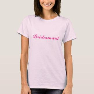 Het roze t-shirt van het Bruidsmeisje babydoll