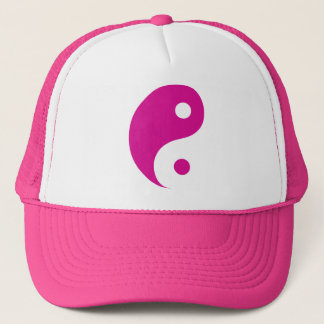 Het roze Taoist Symbool van Yin Yang Trucker Pet