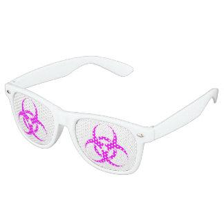 Het Roze Teken Biohazard van Geeky Retro Zonnebril