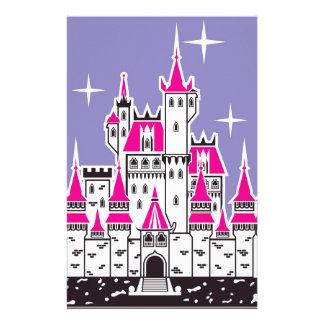 Het roze topje van het kasteel gpersonaliseerd briefpapier