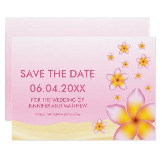 Het roze Tropische Huwelijk van het Strand Kaart