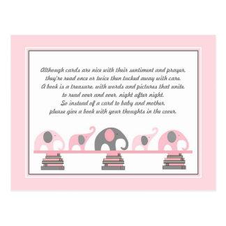 Het roze Tussenvoegsel van Olifanten voor het Baby Briefkaart