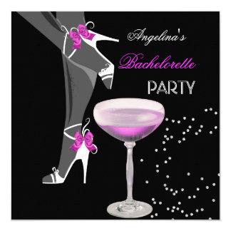 Het roze van Champagne van de Schoenen van de 13,3x13,3 Vierkante Uitnodiging Kaart