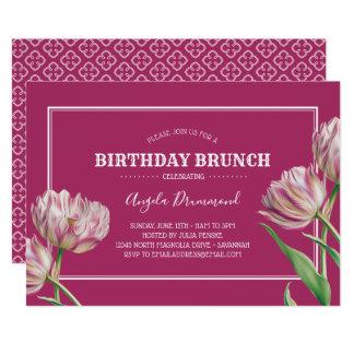 Het Roze van de Brunch van de Verjaardag van de Kaart