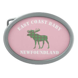 Het roze van de de riemgesp van Newfoundland van Gesp