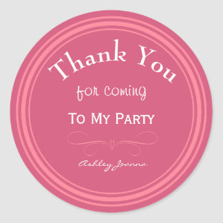 Het Roze van de douane dankt u Sticker