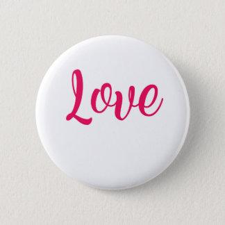 Het Roze van de liefde Ronde Button 5,7 Cm