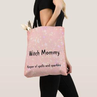 Het roze van de Mama van de heks ontwerpt sparkly Draagtas