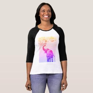 Het Roze van de Olifant van Mandala T Shirt