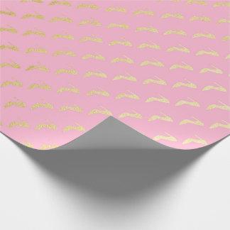 Het Roze van de Pastelkleur van de prinses nam Inpakpapier