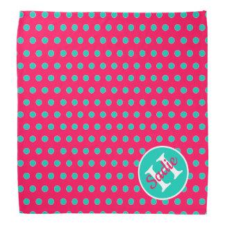 Het Roze van de zomer en het Monogram van de Stip Bandana