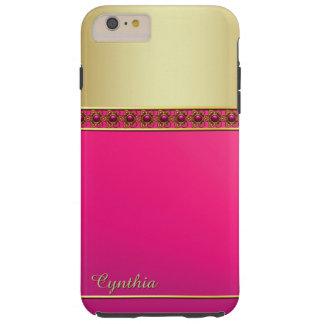 Het Roze van Glam en Goldtone iPhone 6 plus Hoesje