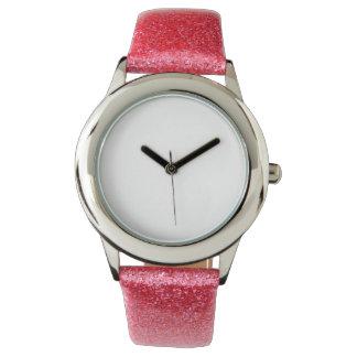 Het Roze van het kind schittert het Horloge van de