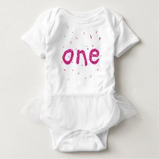 Het Roze van het Meisje van het baby schittert de Romper