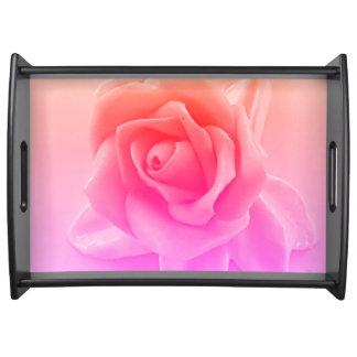 Het Roze van het neon van de perzik nam Bruids Dienblad