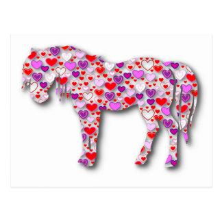 Het Roze van het Paard van het hart - Briefkaart
